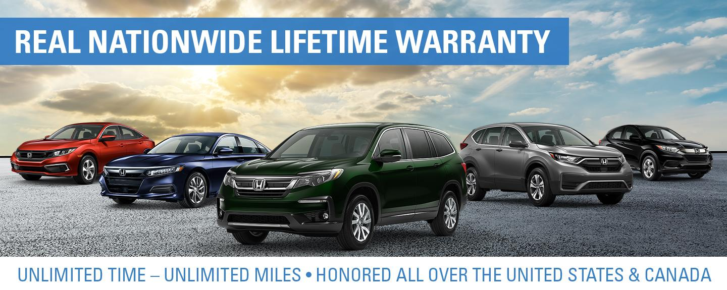 Real Nationwide Lifetime Warranty - Unlimited Time – Unlimited Miles • Honored All Over the United States & Canada