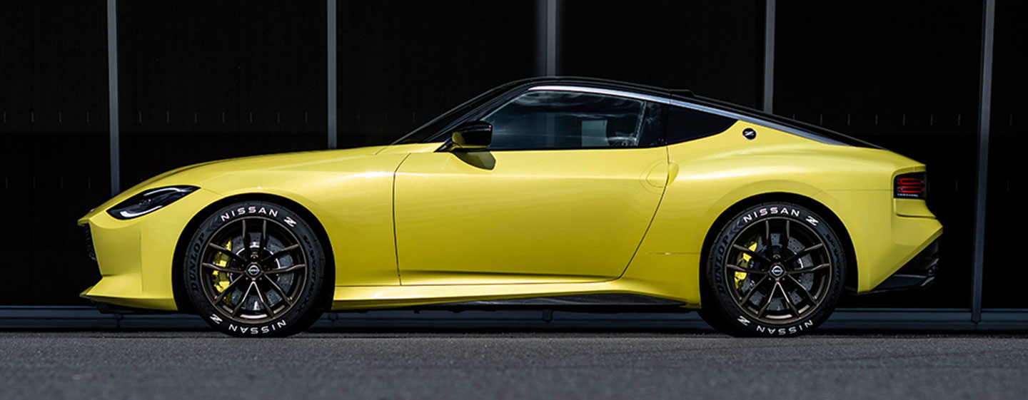 Nissan Z yellow driver side view