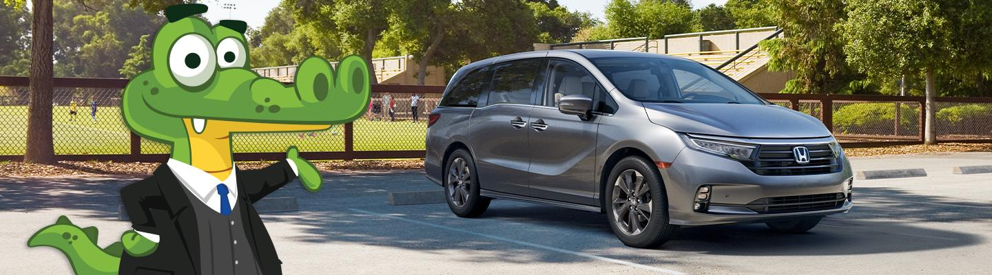 Side view of a 2021 Honda Odyssey for sale