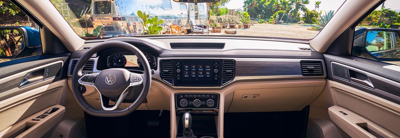 View of inside the 2021 Volkswagen Atlas
