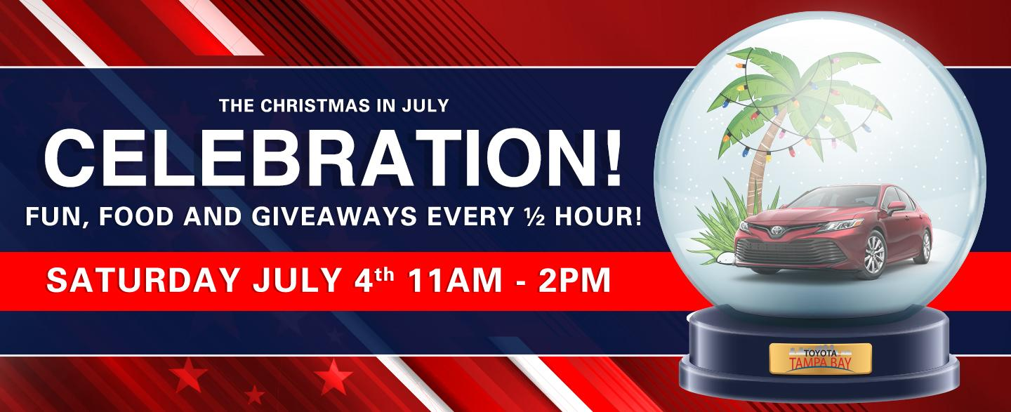 The Christmas In July Celebration - Fun, Food and Giveaways Every ½ Hour!