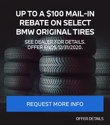 Up To A $100 Mail-In Rebate On Select BMW Original Tires