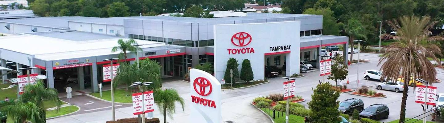 Aerial view of the Toyota of Tampa Bay dealership