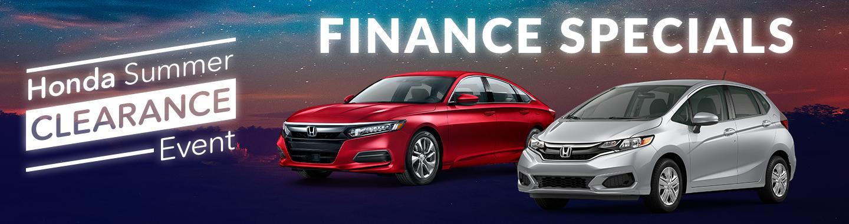 Finance Specials At Westshore Honda