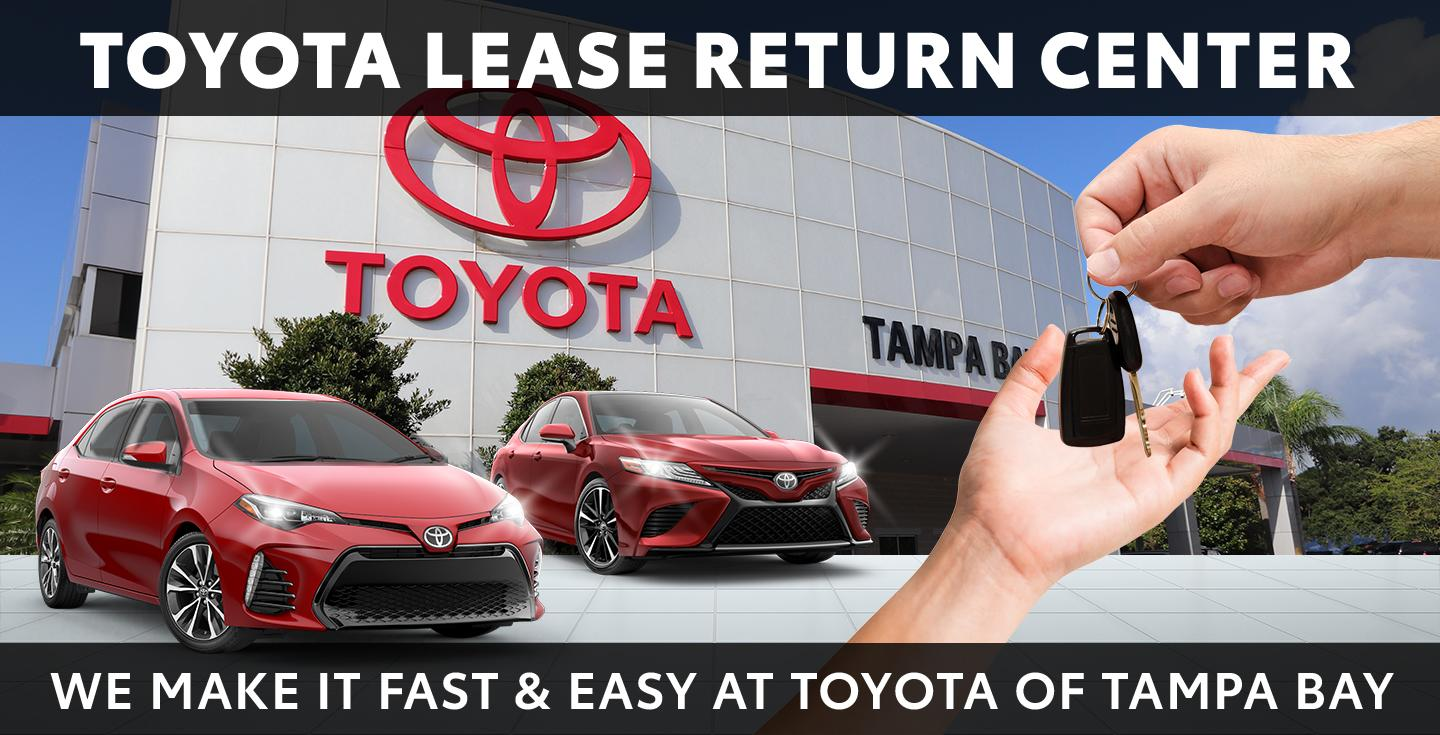 Toyota Lease Return Center - We Make It Fast & Easy At Toyota Of Tampa Bay