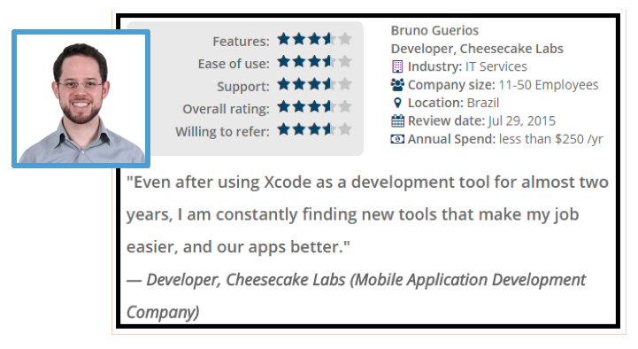 Clutch's interview on Cheesecake Labs' top iOS developer, Bruno Guerios, on his Xcode user experience