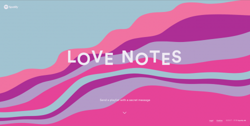 Spotify's Love Notes - Design Inspiration - Weekly Roundup: Google's AMP support, Apple's Swift on GitHub, and more