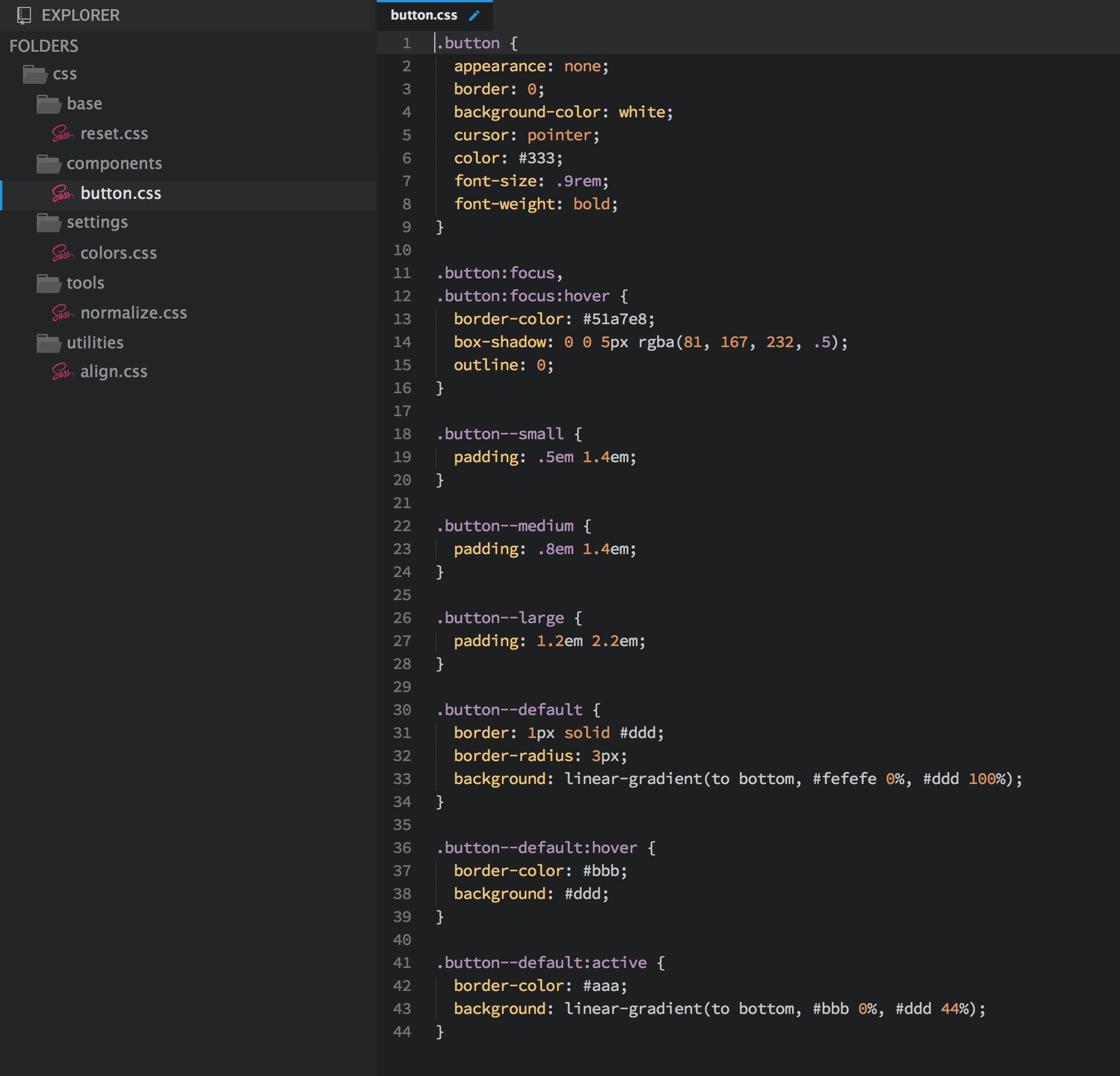 BEM CSS Project Structure