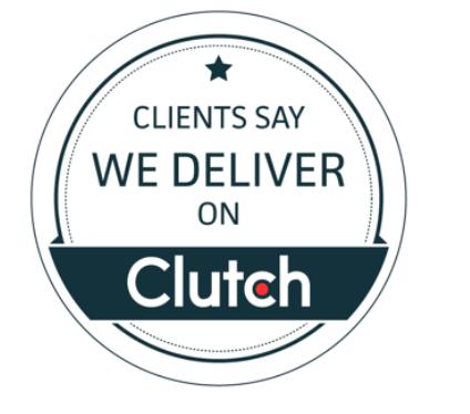 Logo da Clutch, responsável pelo ranking das melhores empresas de desenvolvimento de aplicativos