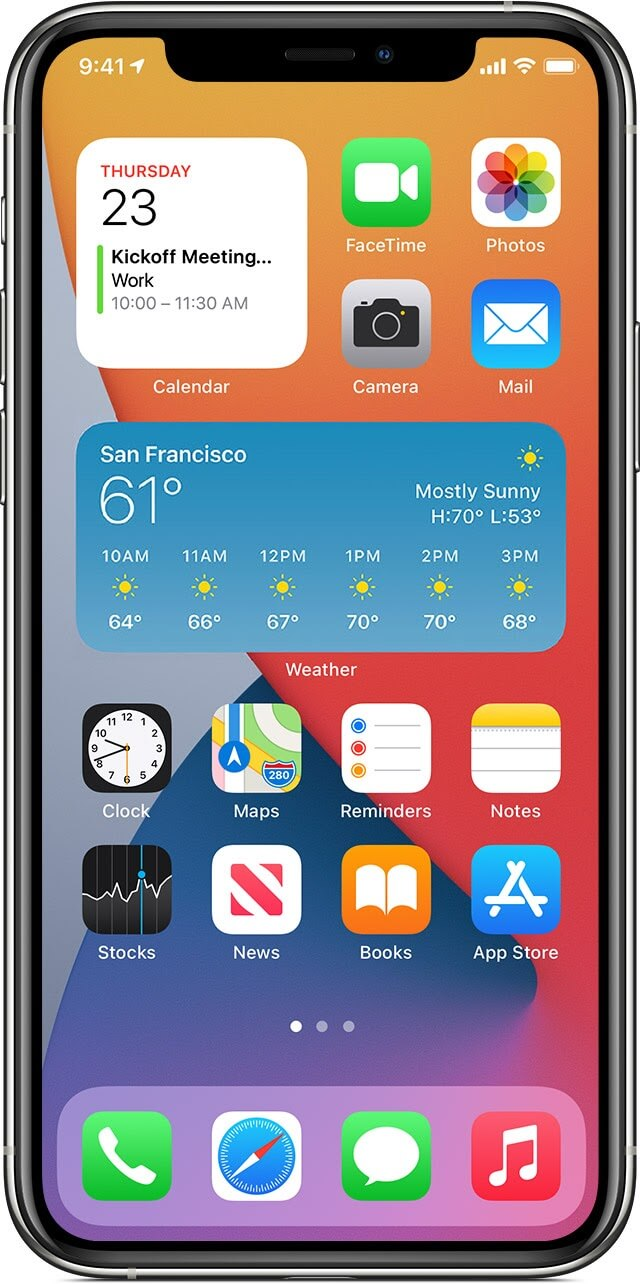 Apple Announcements Widgets Home Screen App Library