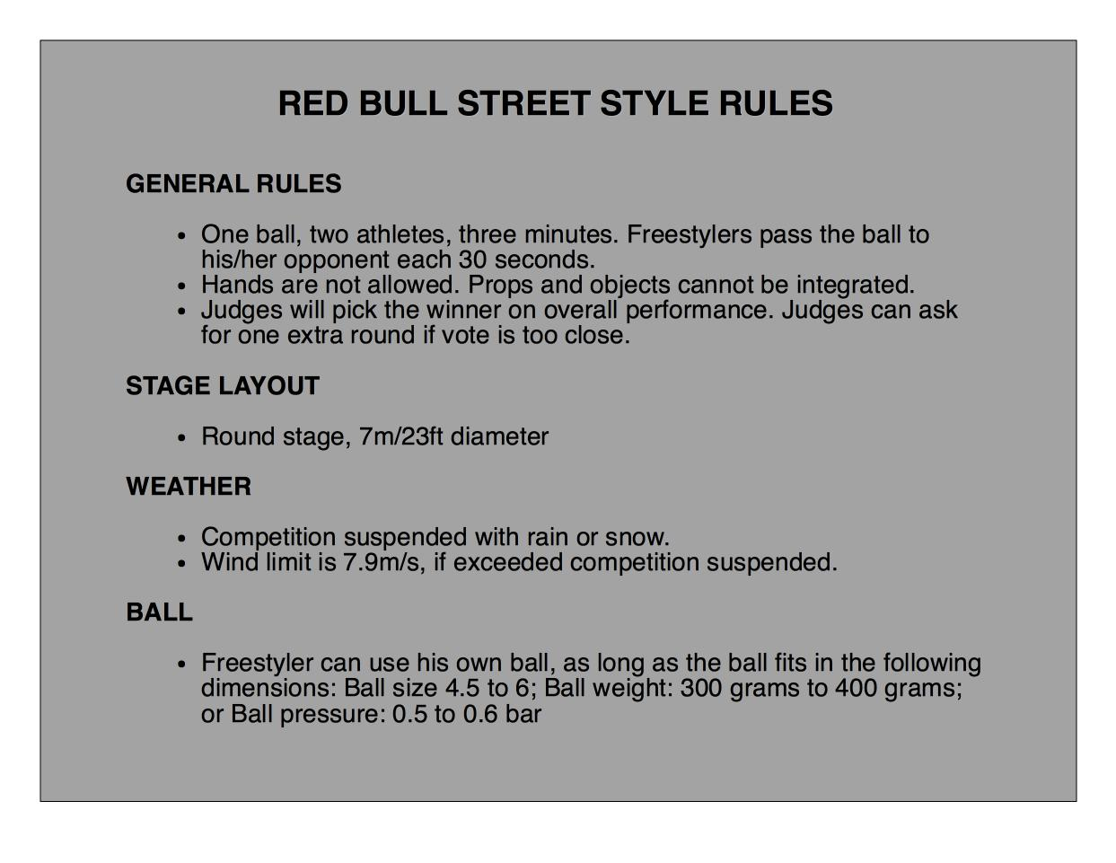 Red Bull Street Style 2016