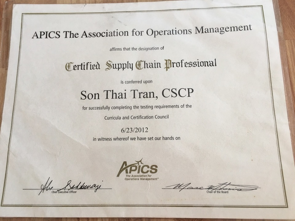 I Will Have You To Acquire Apics Cscp Certified Supply Chain