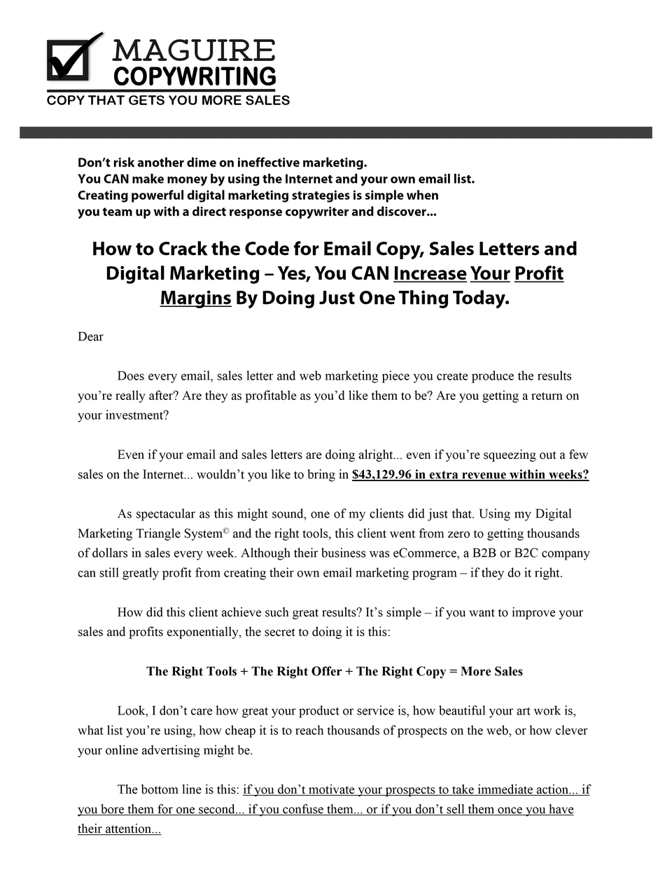Sales Letter Secret | homeslook.info