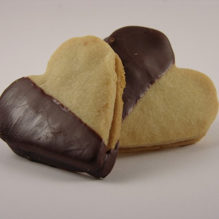 Black and White Heart Cookie