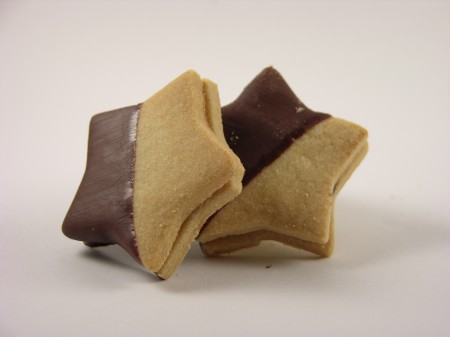 Black and White Star Cookie