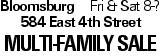 BloomsburgFri & Sat 8-? 584 East 4th Street Multi-Family Sale