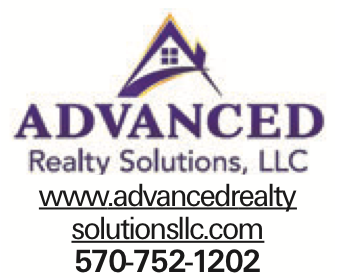 www.advancedrealty solutionsllc.com 570-752-1202 As published in the Press Enterprise.