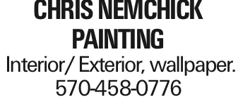 chris Nemchick painting Interior/Exterior, wallpaper. 570-458-0776 As published in the Press Enterprise.
