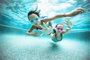 Sandwell picture of children under water