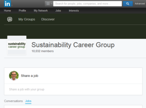 Viewing Jobs on linkedin groups