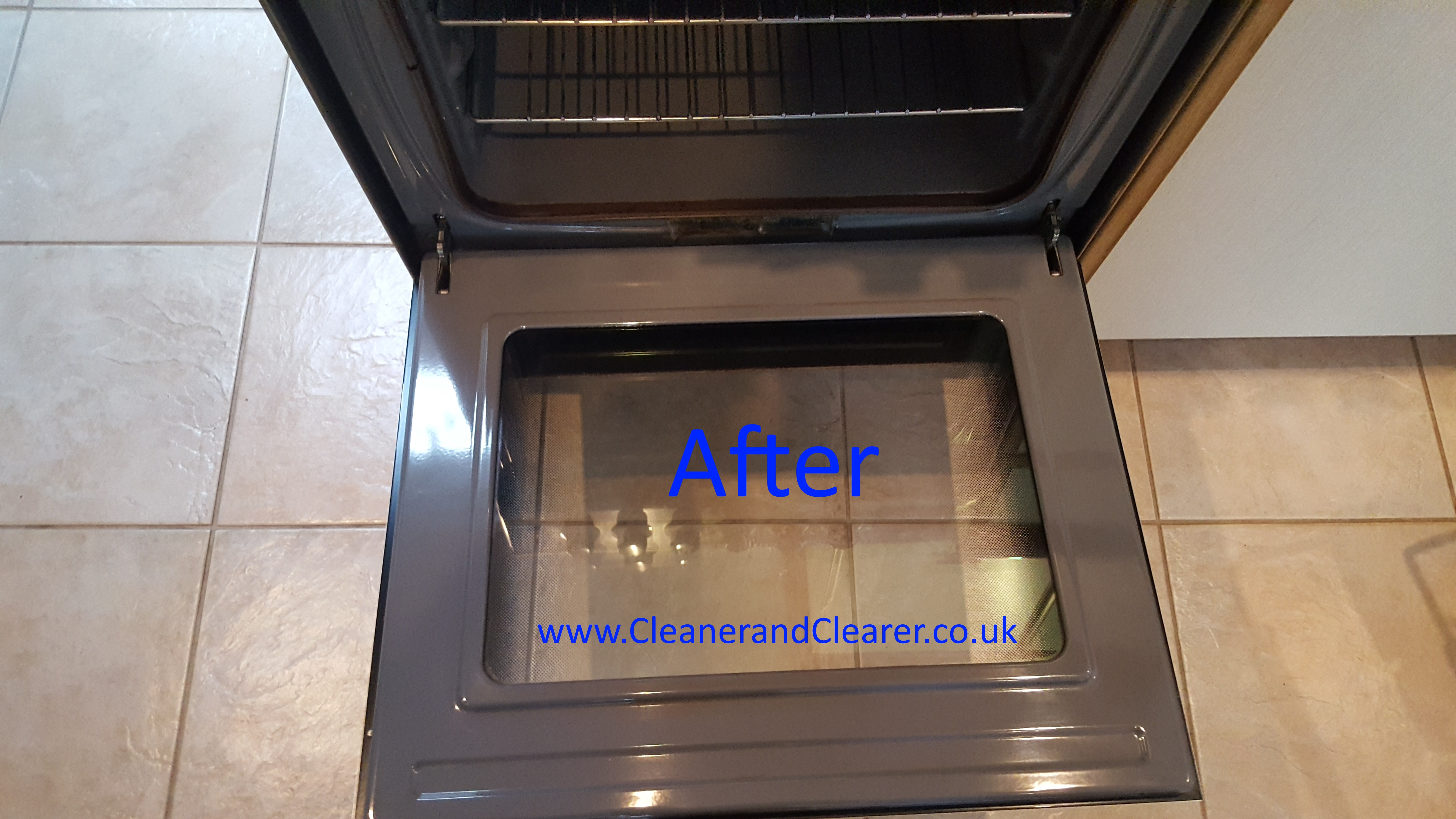 oven clean we did in Huntingdon