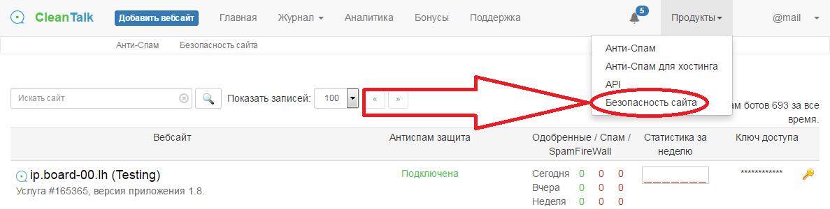 Сервис CleanTalk Безопасность сайта