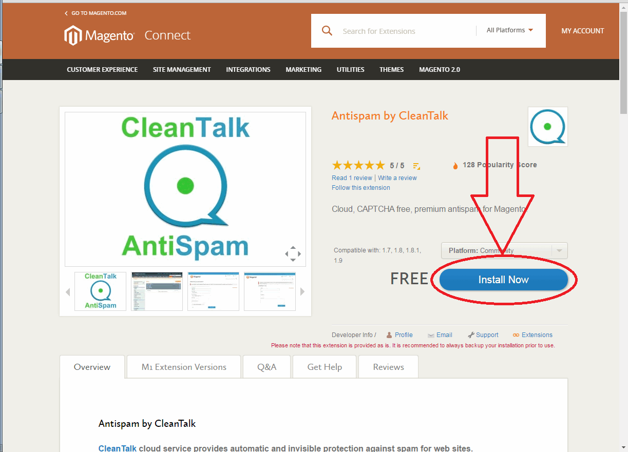 Magento CleanTalk extension key 01