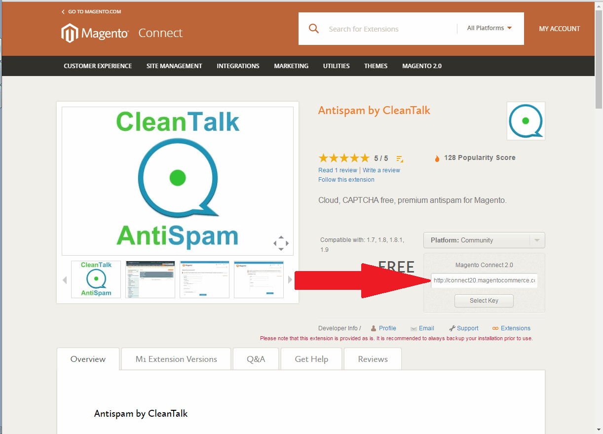 Magento CleanTalk extension key 03
