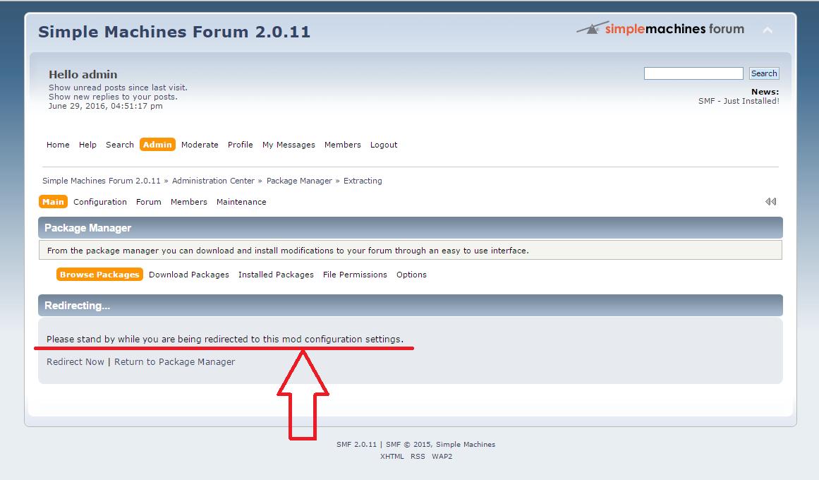 Simple Machines Forum Redirecting