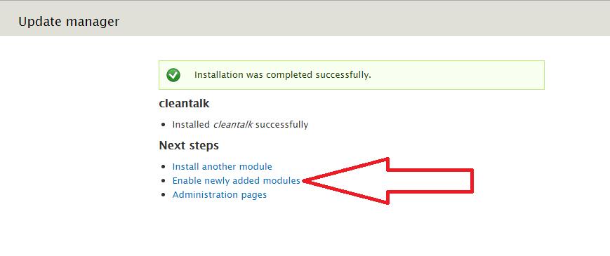 Drupal 7 enable anti-spam module