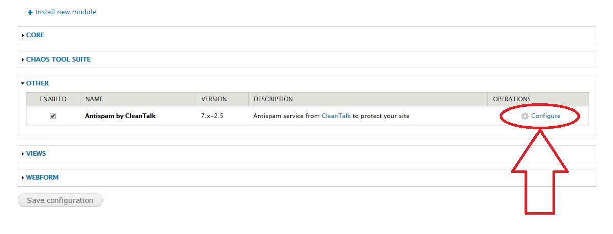 Drupal 7 configure anti-spam module