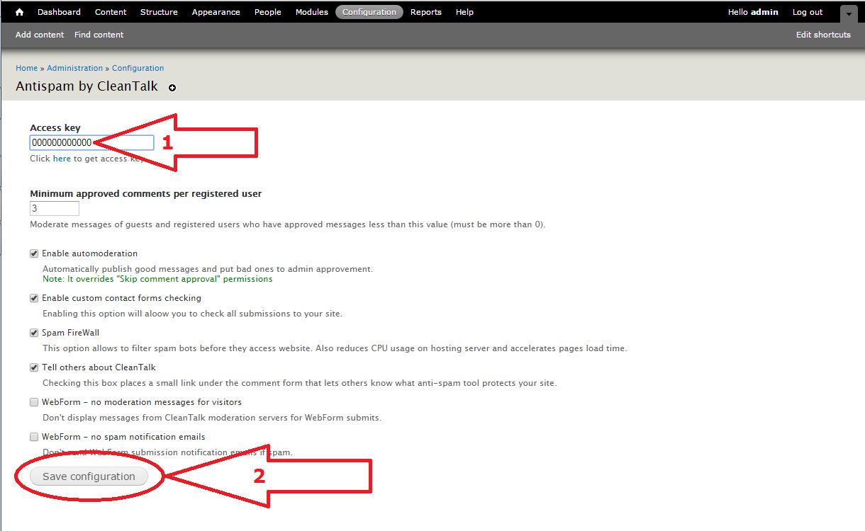 Dupal 7 anti-spam module options