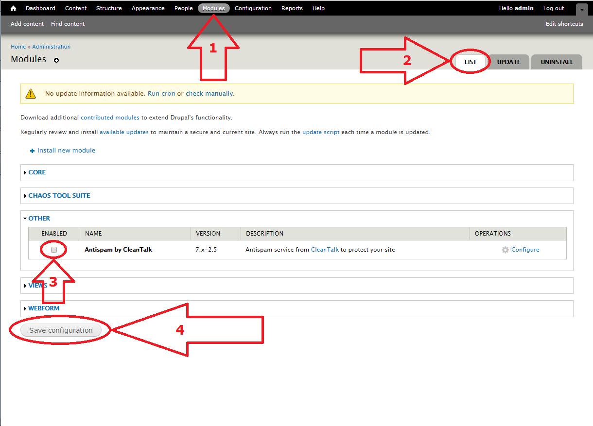 Dupal 7 anti-spam module update
