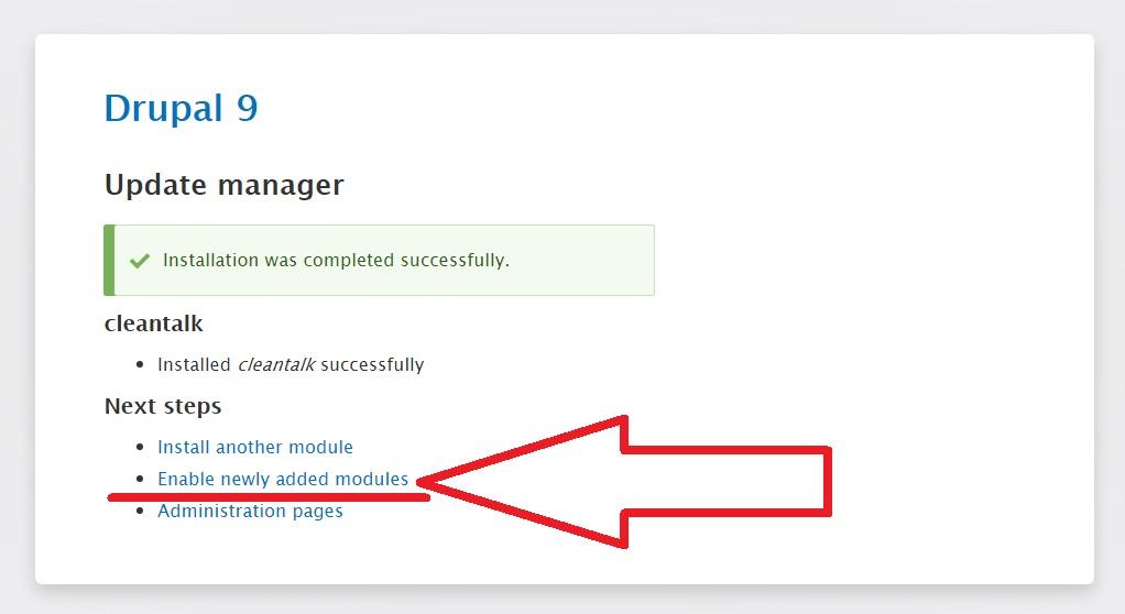 Drupal 9 enable anti-spam module