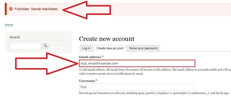 Drupal 9 spam registration block