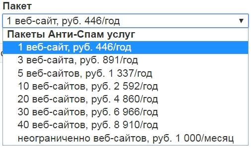 Пакет Анти-Спам