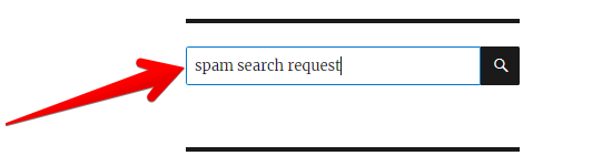 search form stop-word