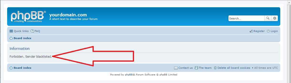 phpBB spam block