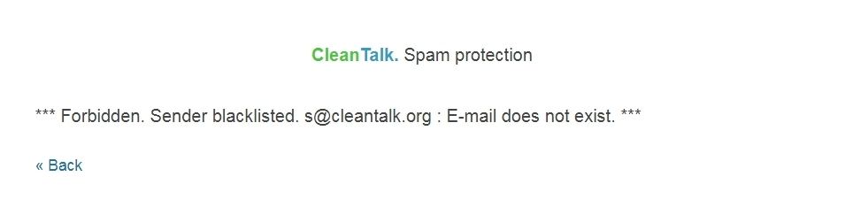 Anti-Spam message