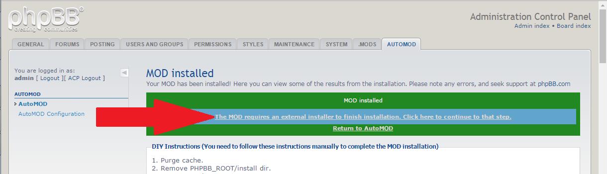 phpBB anti-spam mod install
