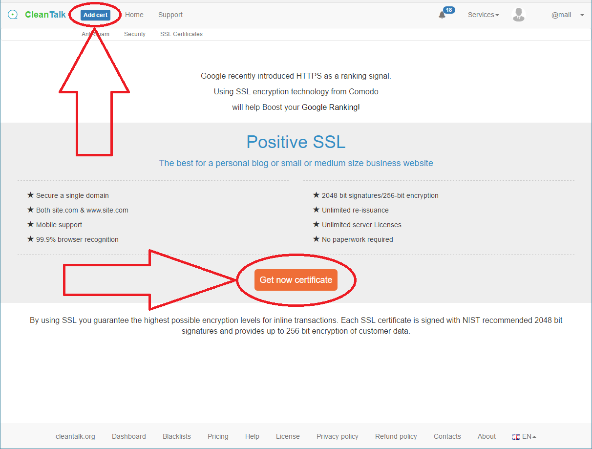 Add SSL Sertificate