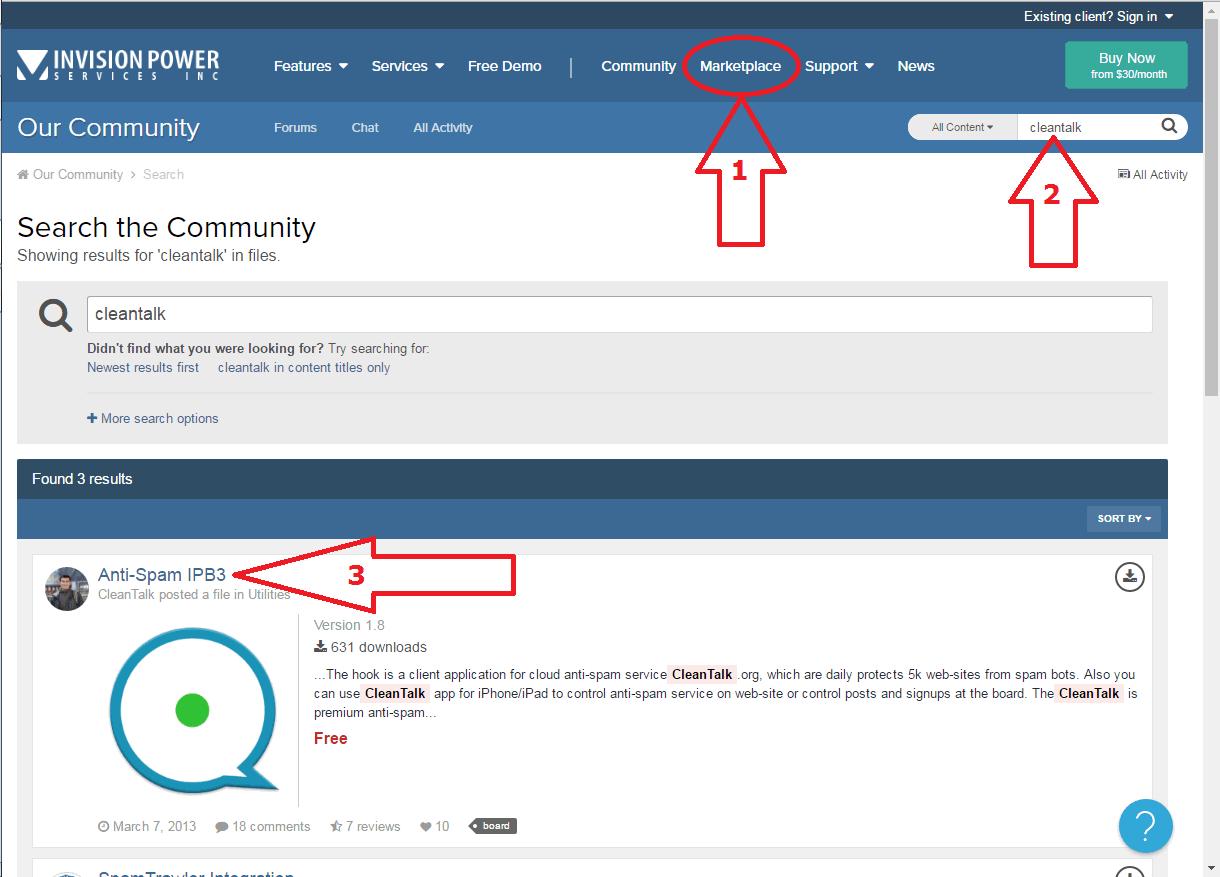 IP.Board anti-spam install