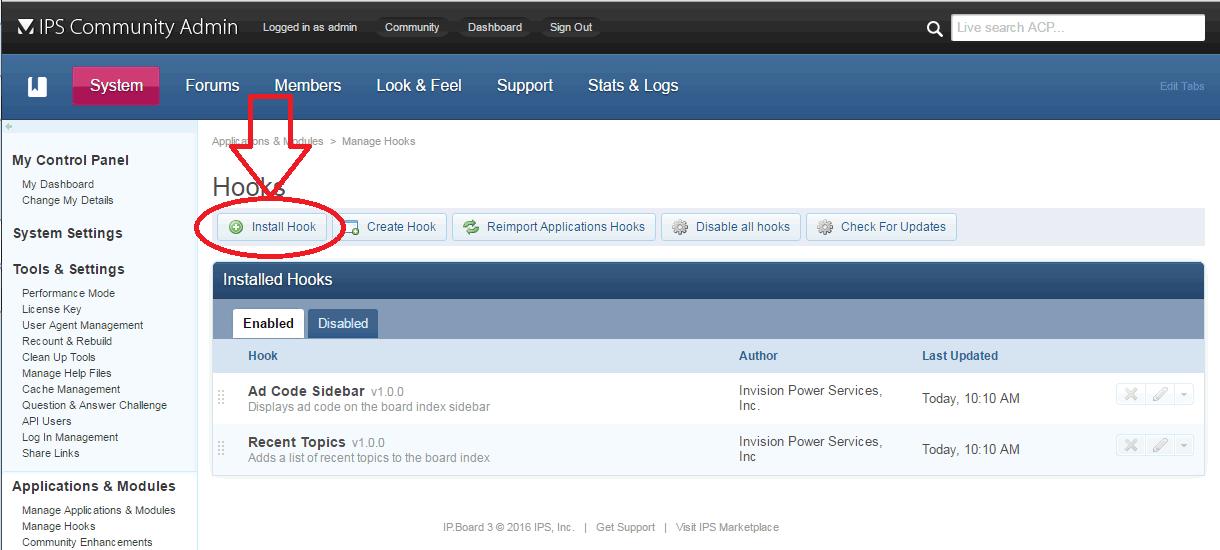 IP.Board install anti-spam hook