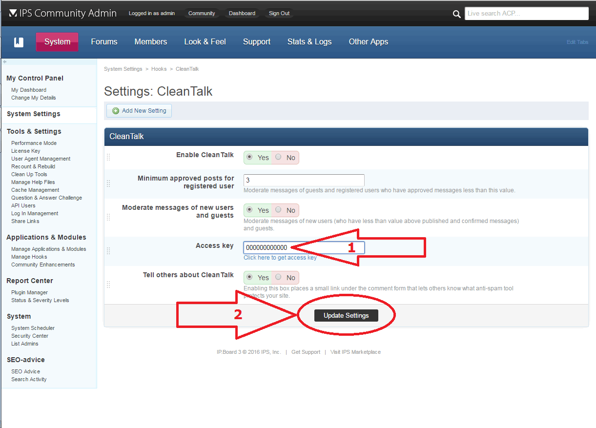 IP.Board anti-spam options