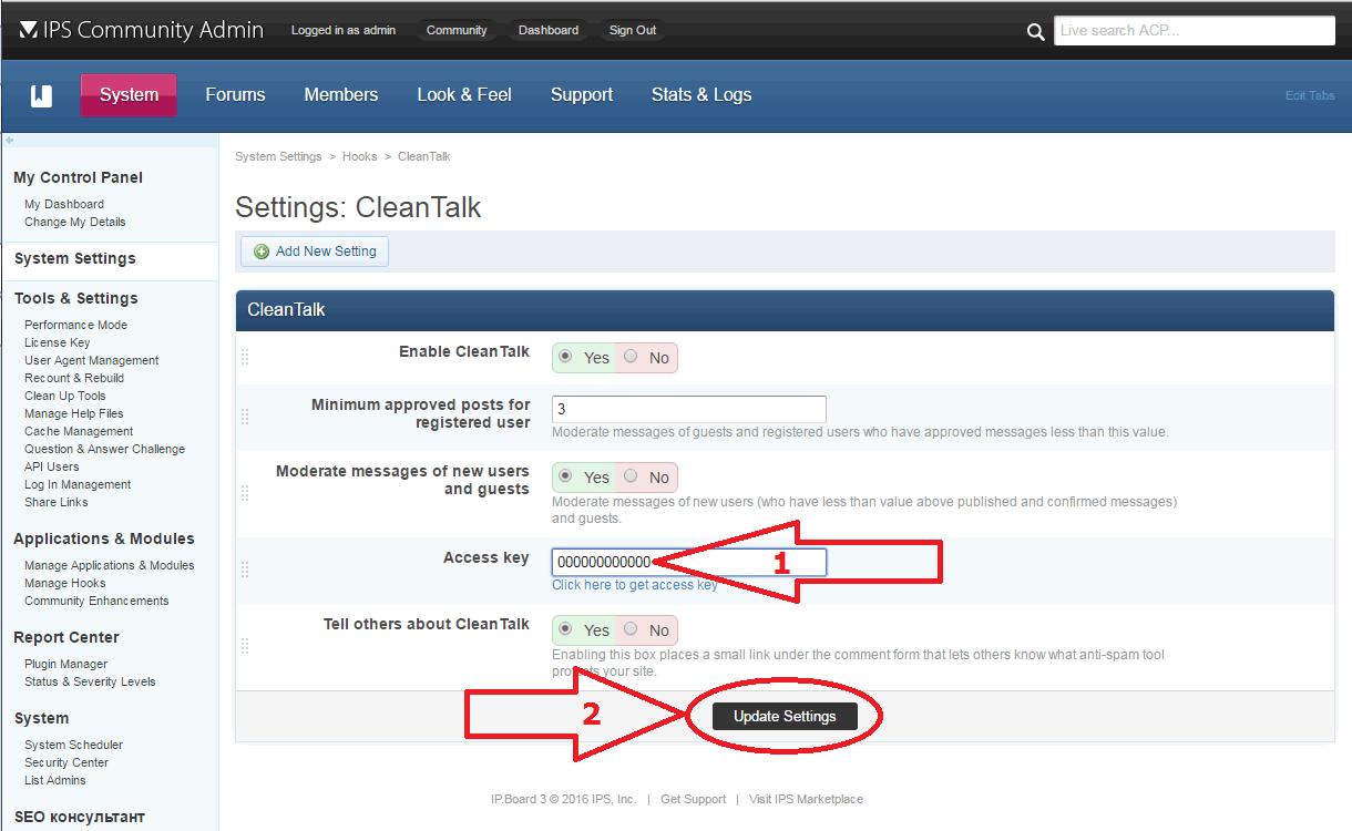 IP.Board anti-spam hook options
