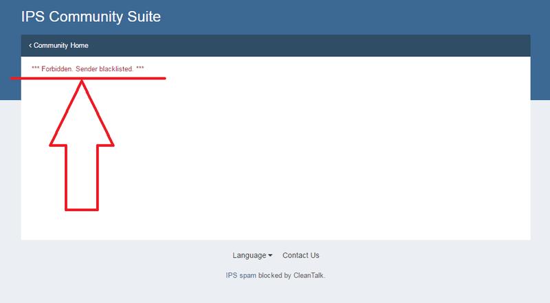 IPS4 spam block
