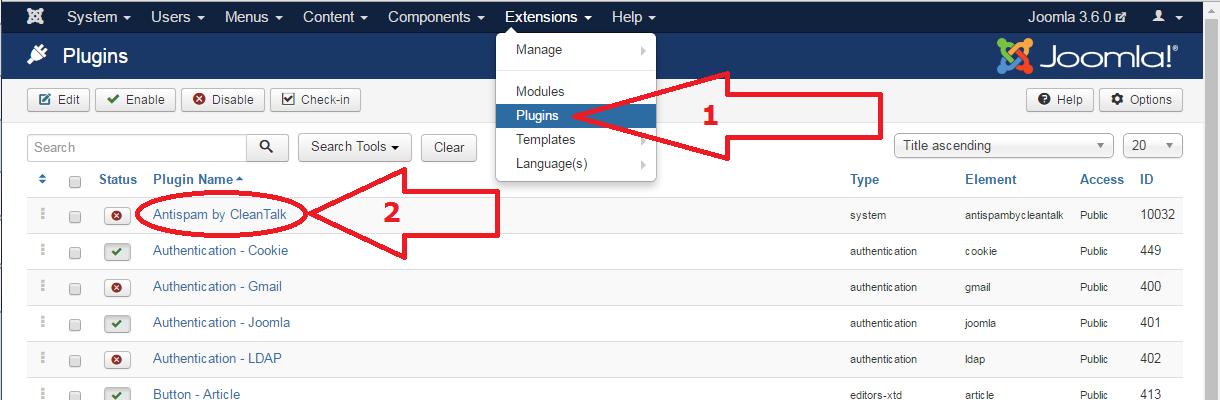 Joomla 3 anti-spam plugin configure