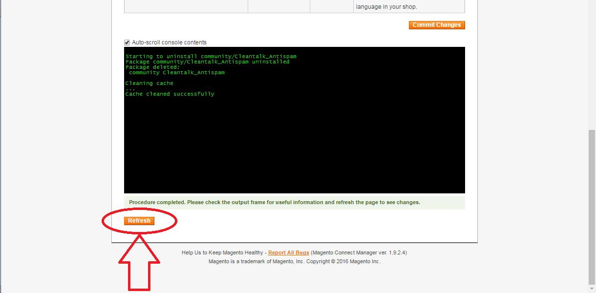 Удаление анти-спам плагина на Magento 1.9