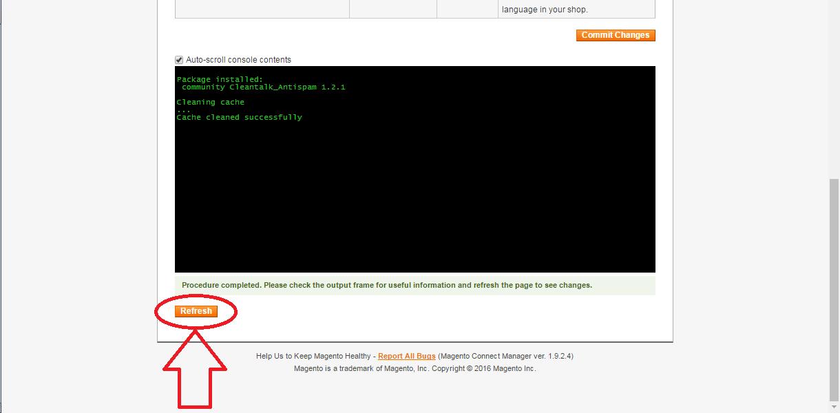 Установка анти-спам плагина на Magento 1.9