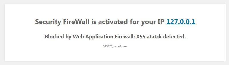 Security XSS block